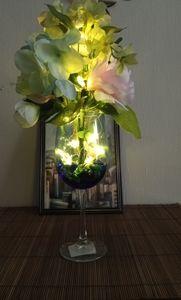 Wine Themed Floral Arrangement w/Lights